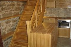 altvaade trepp ja mööbel tamme täispuidust