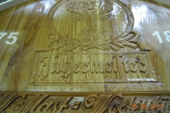 Graveeritud tammepuidust detail